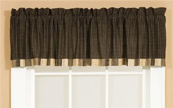 Kettle Grove Unlined Block Border Valance