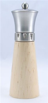 Signature Natural Wood/Brushed Metal Top Salt Mill (9 in.)