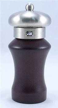 Klios Elite Espresso Wood/Brushed Metal Salt Mill (6.5 in.)