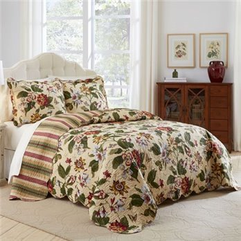 Waverly Laurel Springs 3 Piece Queen Bedspread Set