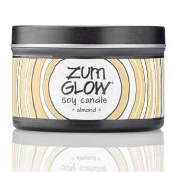 Zum Glow Almond Soy Candle in a Tin (7 oz.)