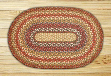 "Honey, Vanilla & Ginger Oval Braided Rug 20""x36"""