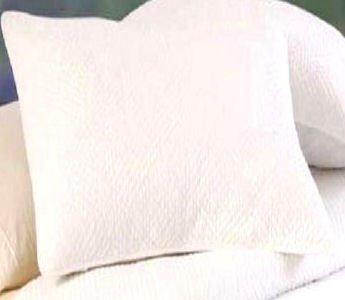Hampton Matelasse White Quilted Euro Sham
