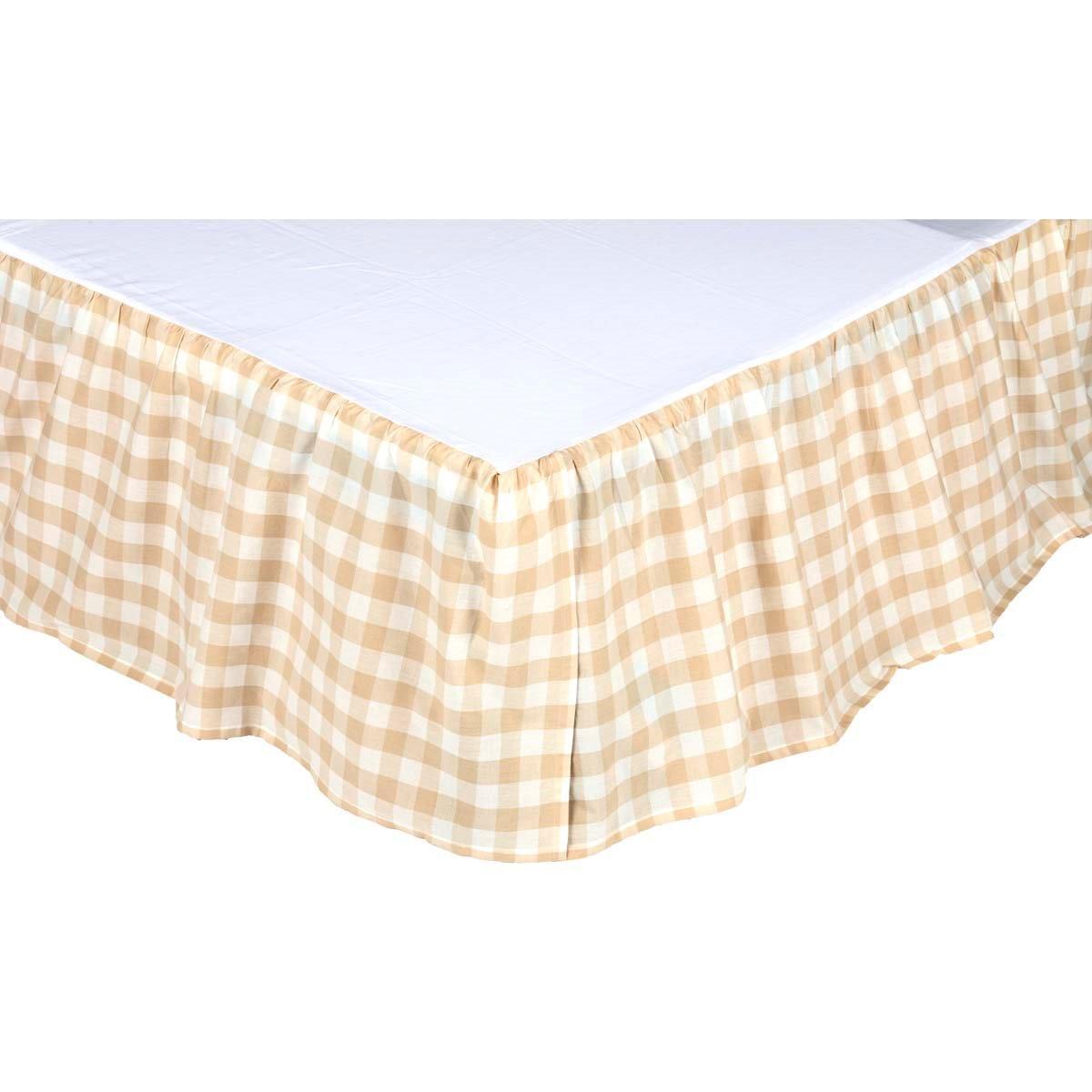 Annie Buffalo Tan Check Queen Bed Skirt 60x80x16