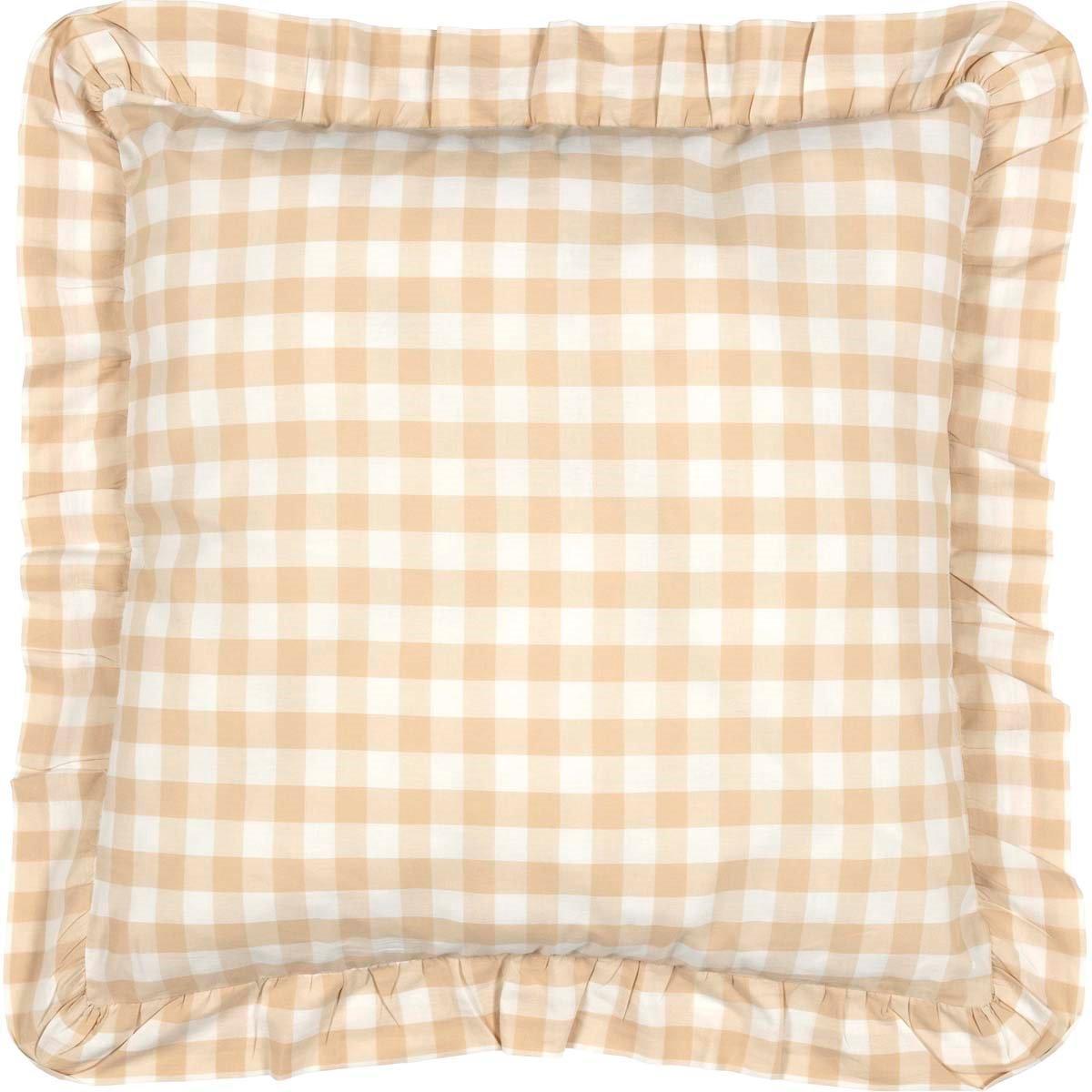 Annie Buffalo Tan Check Fabric Euro Sham 26x26