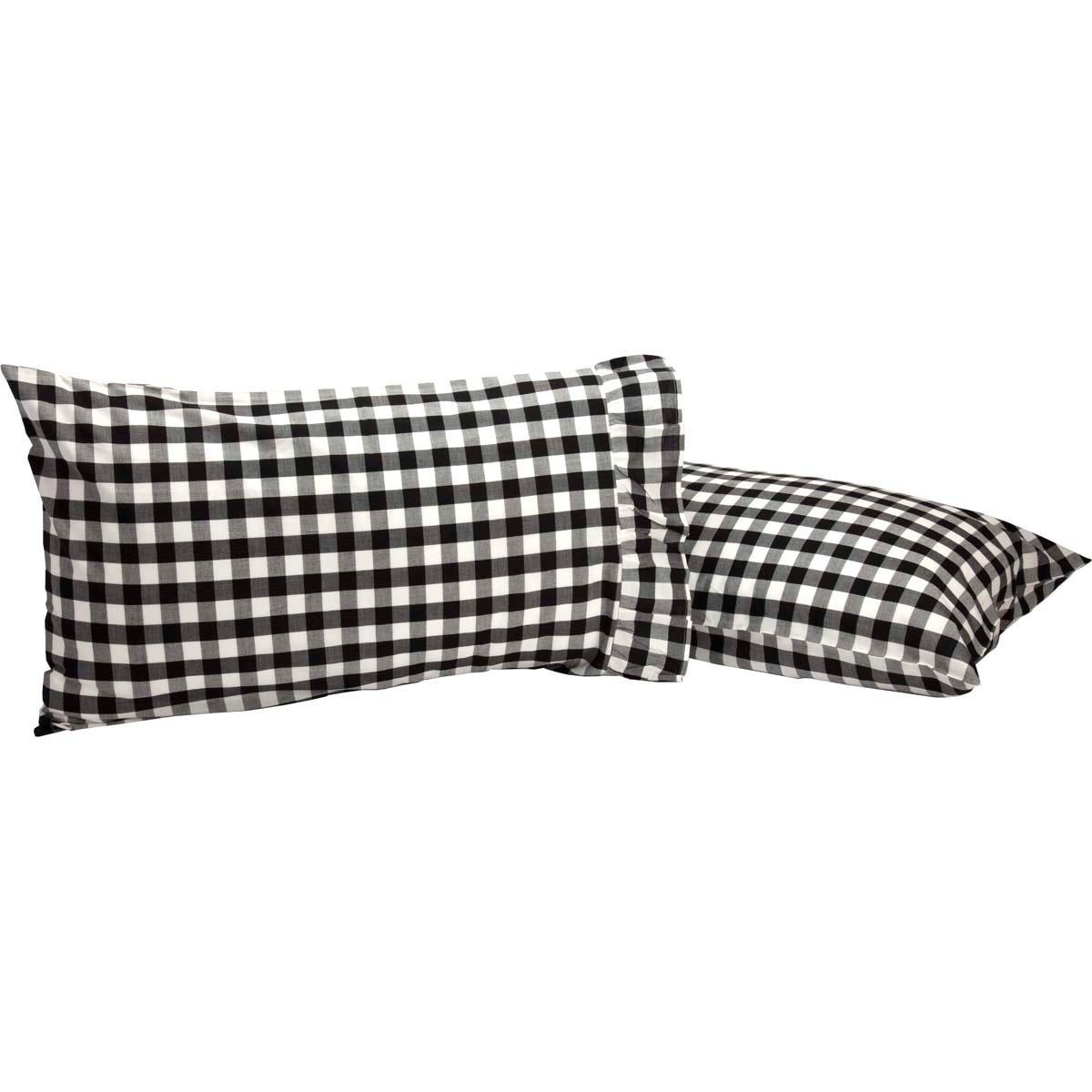 Annie Buffalo Black Check Standard Pillow Case Set of 2 21x30