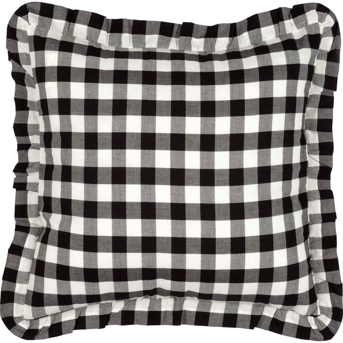 Annie Buffalo Black Check Fabric Pillow 18x18