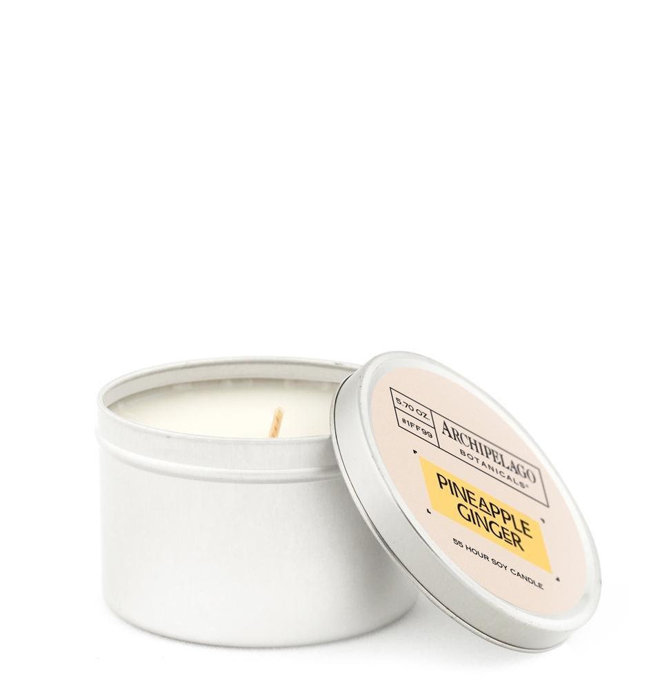 Archipelago Pineapple Ginger Round Tin Candle