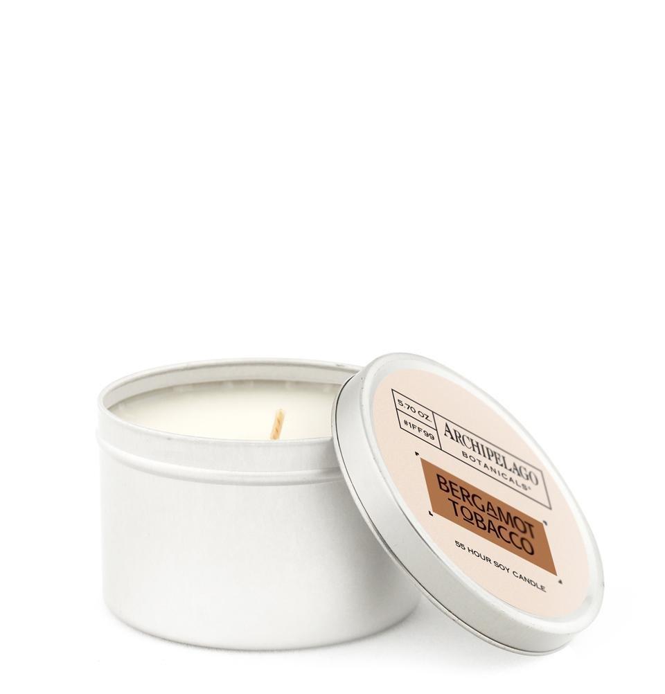 Archipelago Bergamot Tobacco Tin Candle