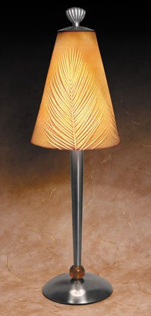Palm Leaves Contemporary Lamp by Porcelain Garden