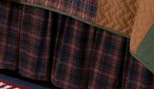 Gibson Plaid King Bedskirt