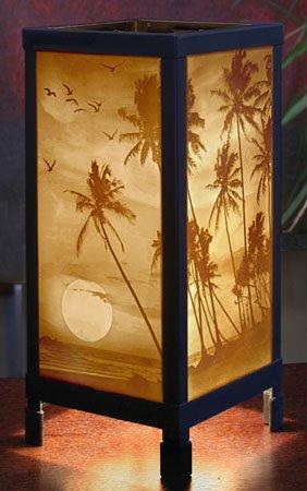 Tropical Sunset Luminaire by Porcelain Garden