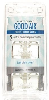 Yankee Candle Just Plain Clean Good Air Odor Eliminating Electric Home Fragrancer Refills