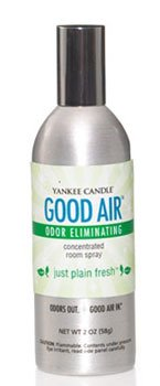 Yankee Candle Just Plain Fresh Good Air Odor Eliminating Concentrated Room Spray