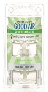 Yankee Candle Just Plain Fresh Good Air Odor Eliminating Electric Home Fragrancer Refills