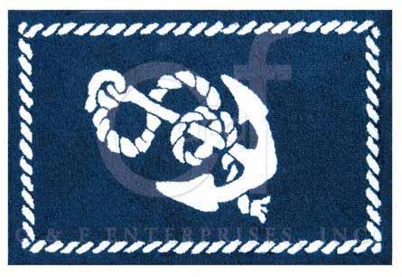 Knotty Buoy Anchor Washable Rug
