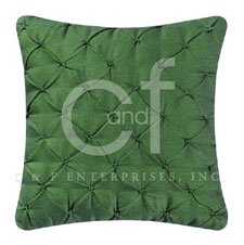 Green Pintucked Feather Down Pillow