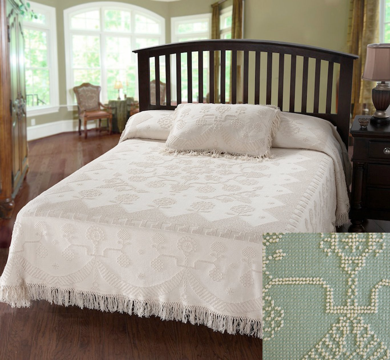 George Washington Bedspread Twin Sage
