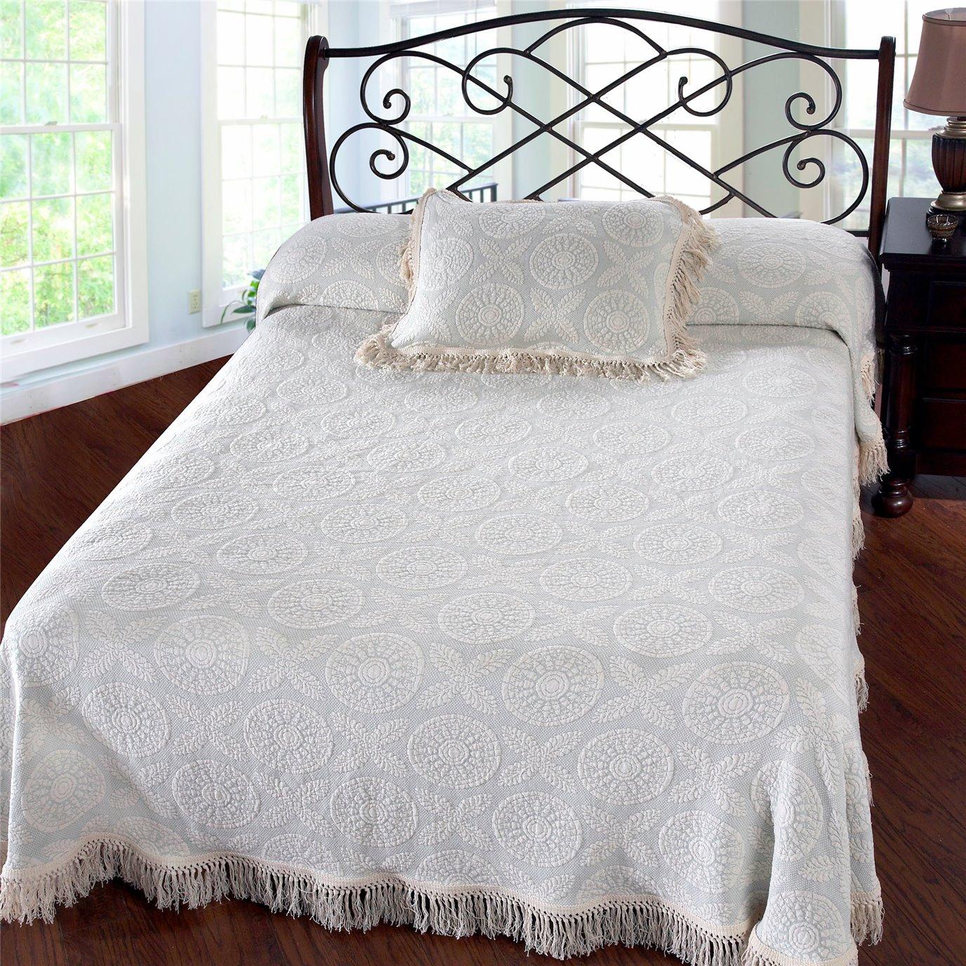 Heirloom Full Wedgewood Blue Bedspread