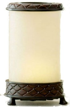 La Tee Da Petite AromaLume Fragrance Generator Leather & Ivory Glass
