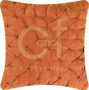 Orange Pintucked Feather Down Pillow