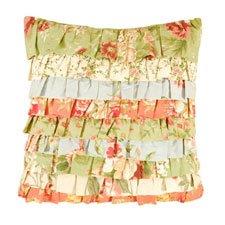 Garden Dream Ruffled Pillow