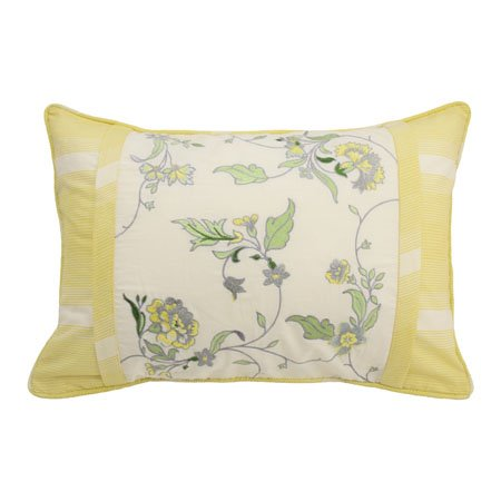 Waverly Paisley Verveine Embroidered Oblong Decorative Accessory Pillow