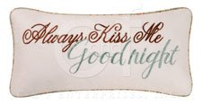 Audrey Embroidered Goodnight Pillow