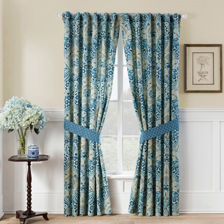 Waverly Moonlit Shadows Curtain Panel Pair