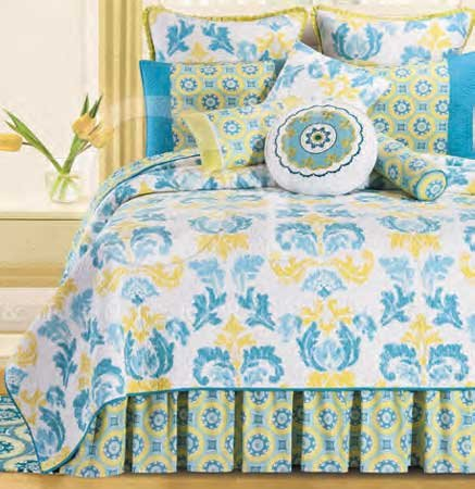 Delilah Blue Twin Quilt