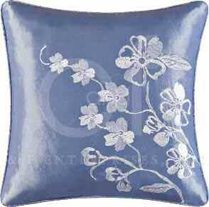 Mazarine Embroidered Square Pillow