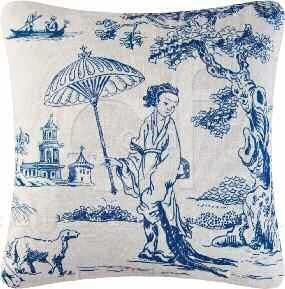 Hampstead Toile Pillow