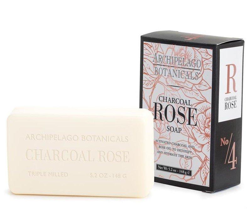 Archipelago Charcoal Rose Bar Soap