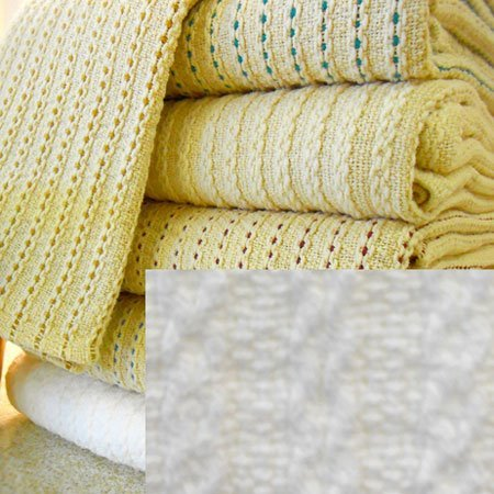George Washington's Choice Blanket  Full/Queen White