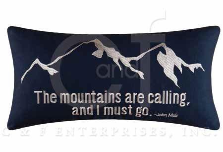 Gibson Lake Mountains Pillow
