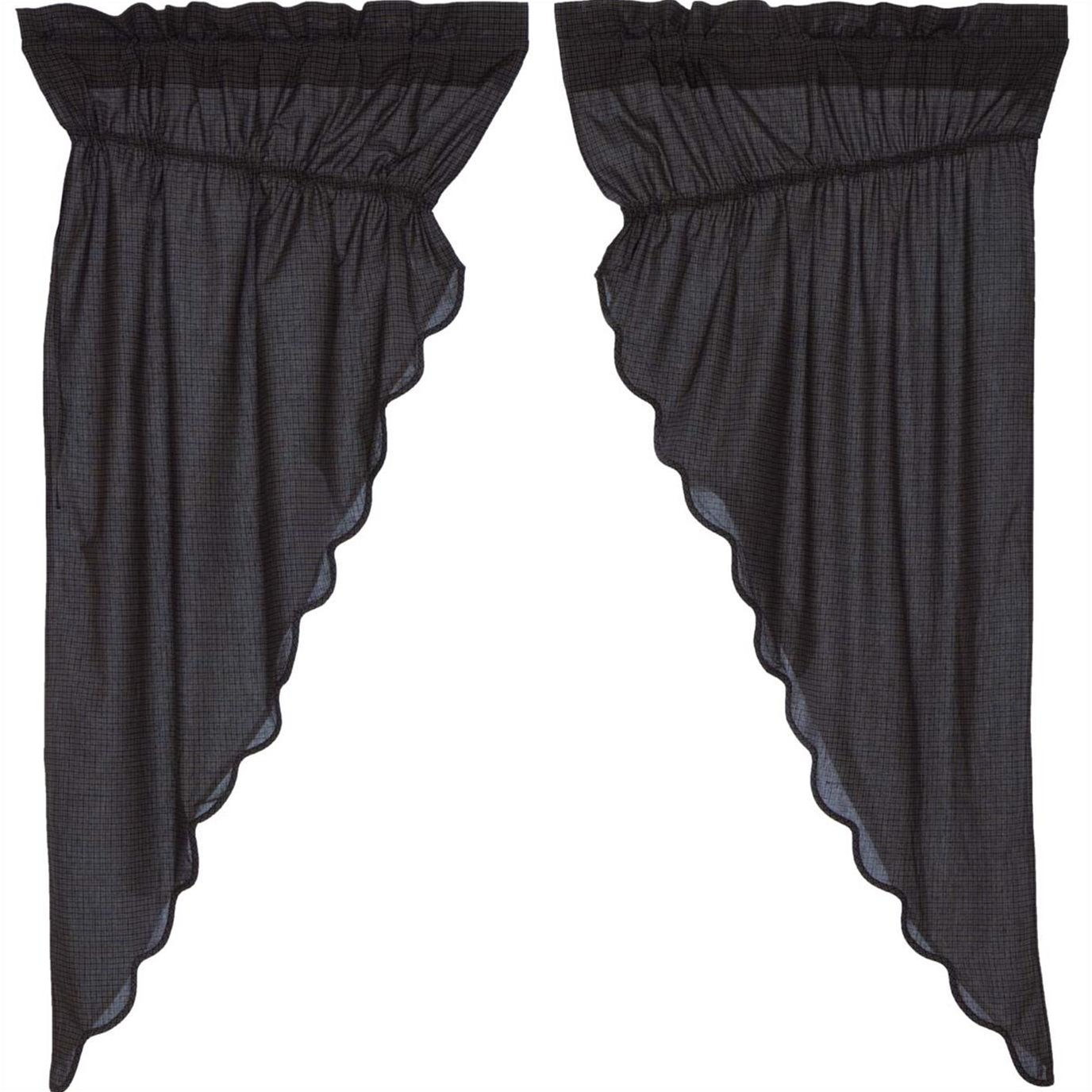 Arlington Prairie Short Panel Scalloped Set of 2 63x36x18
