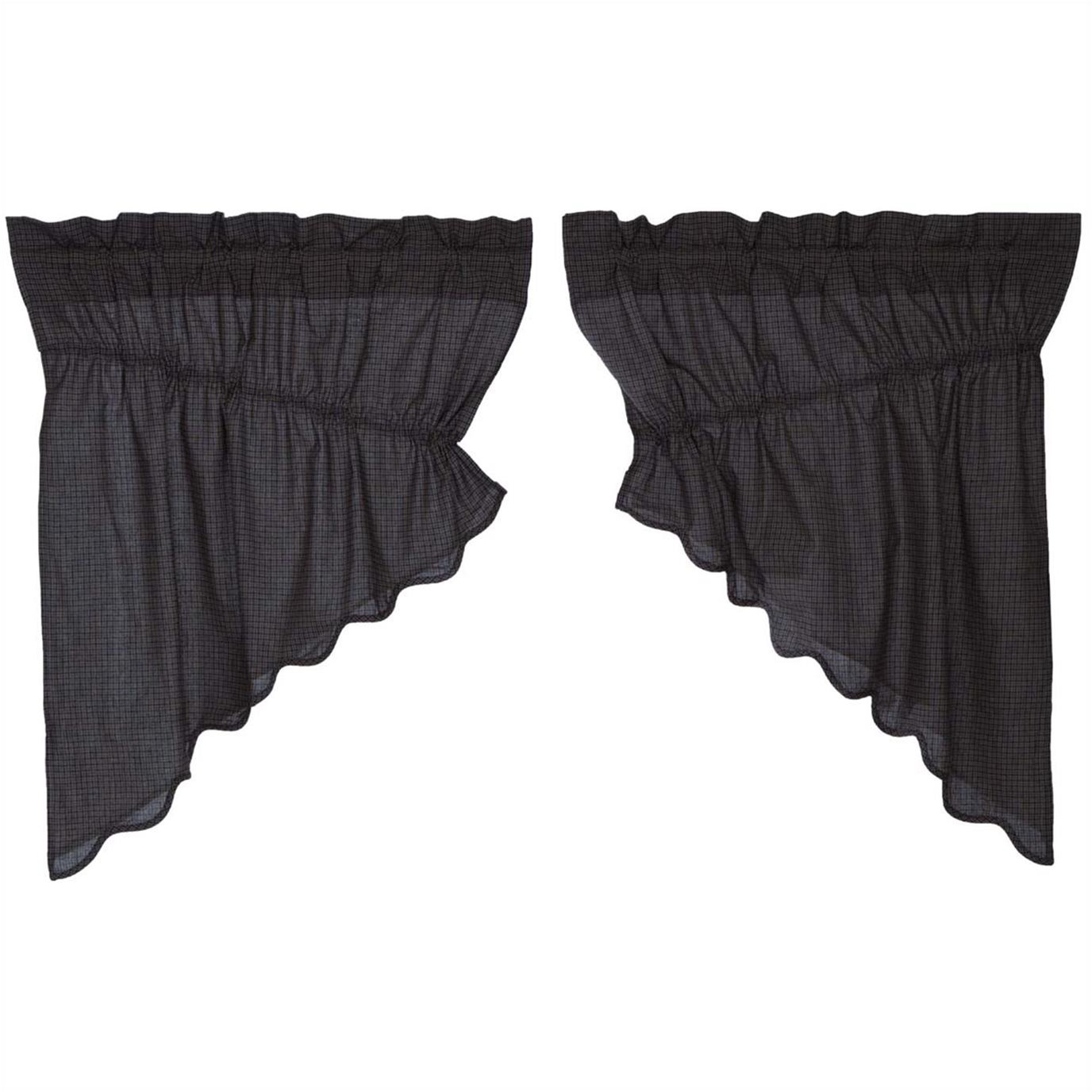 Arlington Prairie Swag Scalloped Set of 2 36x36x18