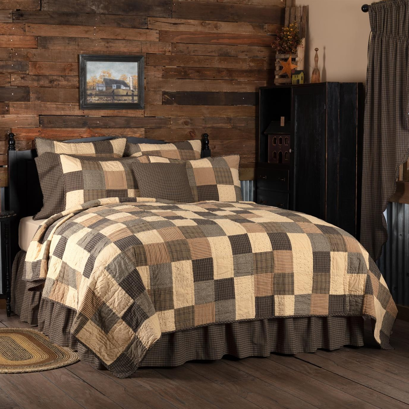 Kettle Grove Twin Quilt 70Wx90L