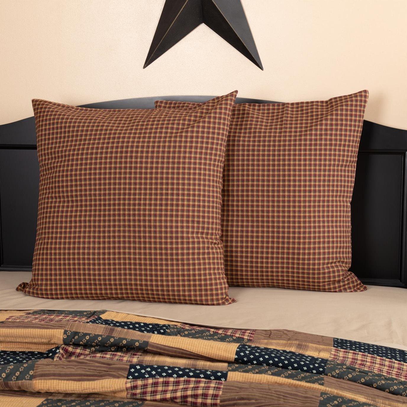 Patriotic Patch Euro Sham Fabric 26x26