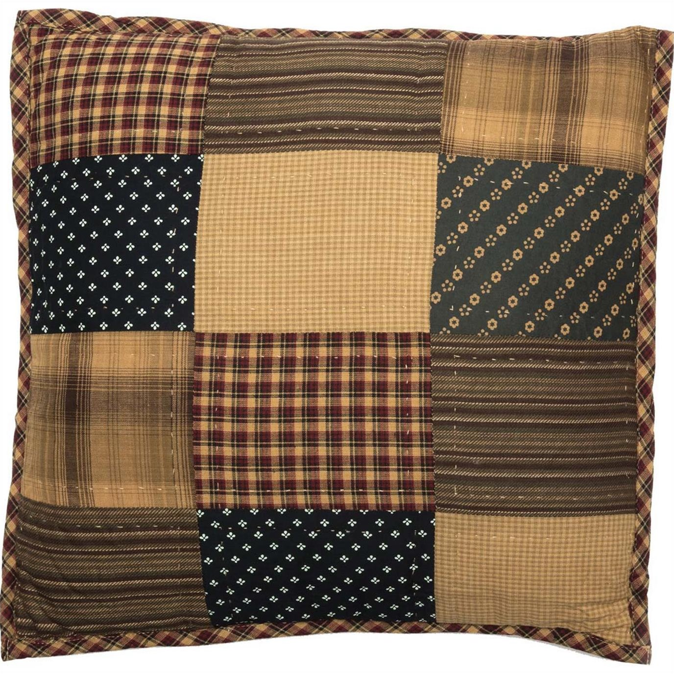 Patriotic Patch Quilted Pillow 16x16