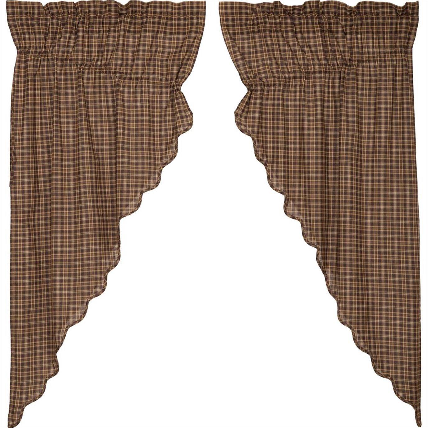 Prescott Prairie Short Panel Scalloped Set of 2 36x63x18