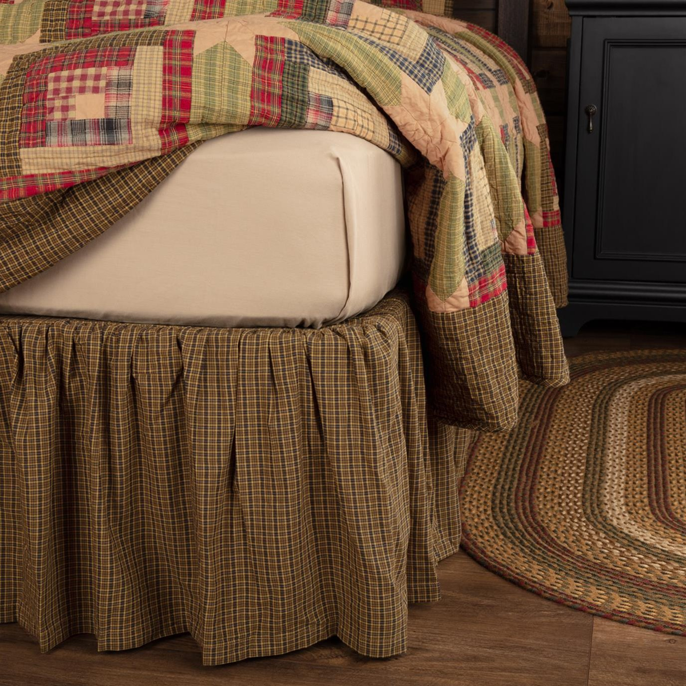Tea Cabin King Bed Skirt 78x80x16