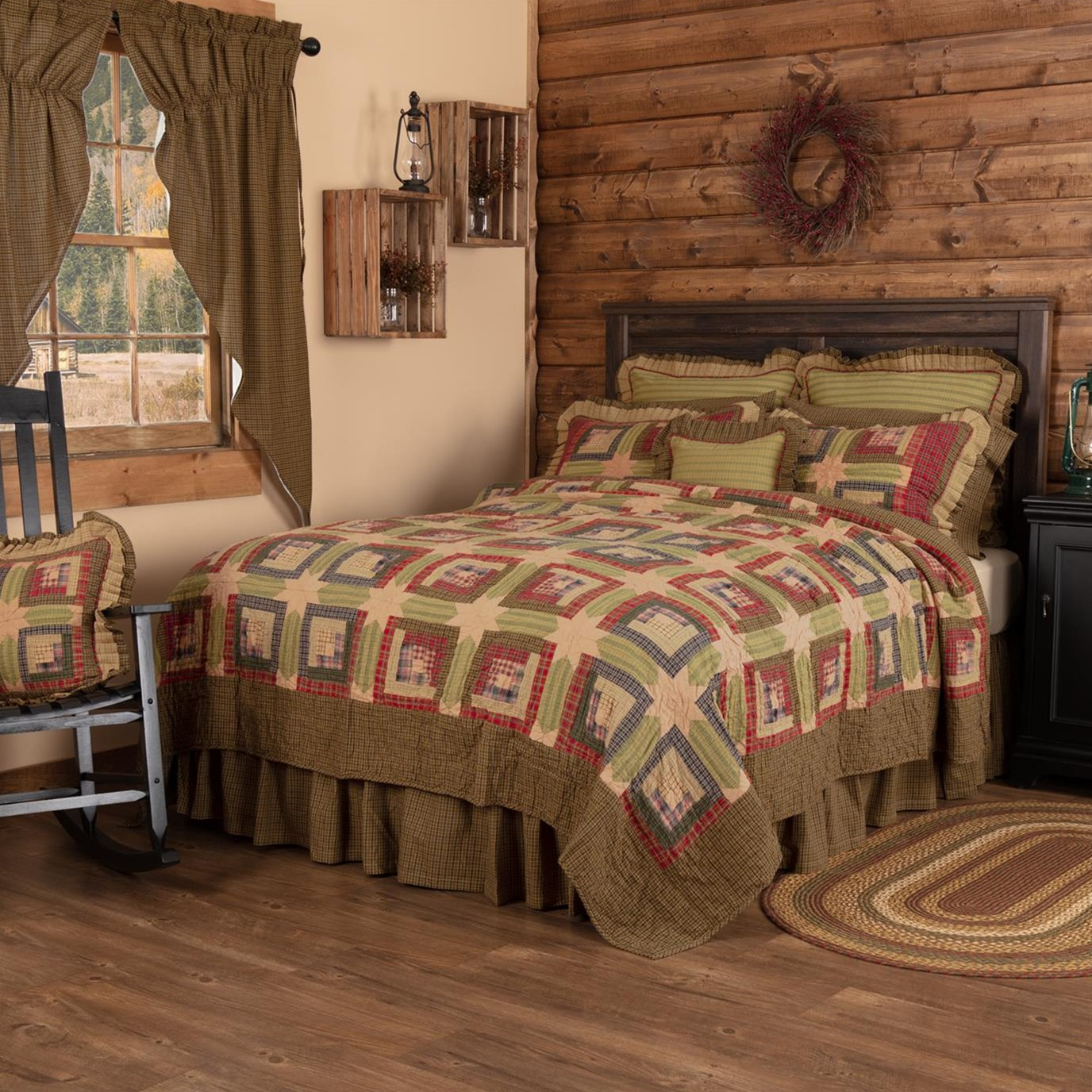 Tea Cabin Twin Quilt 70Wx90L