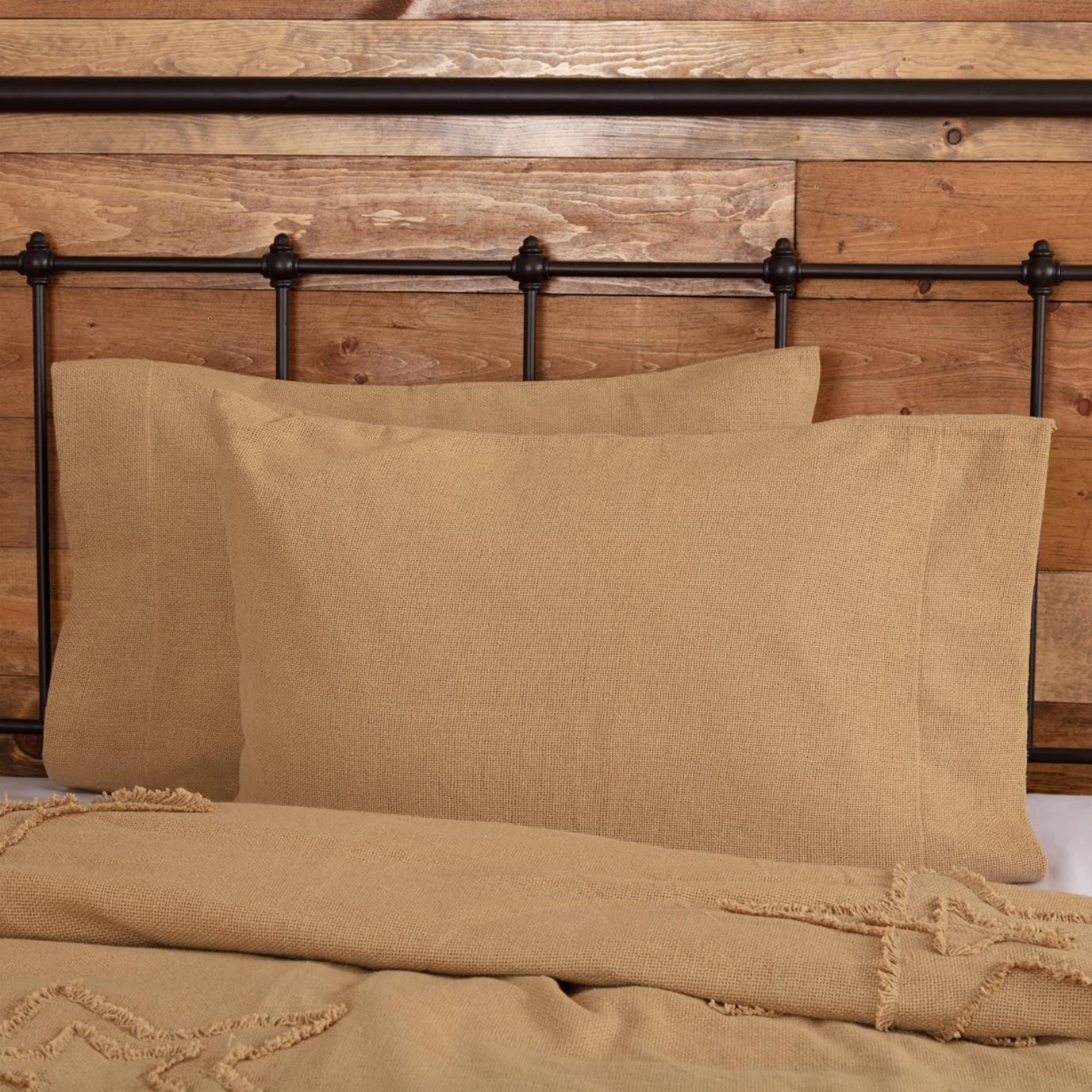 Burlap Natural Pillow Cases
