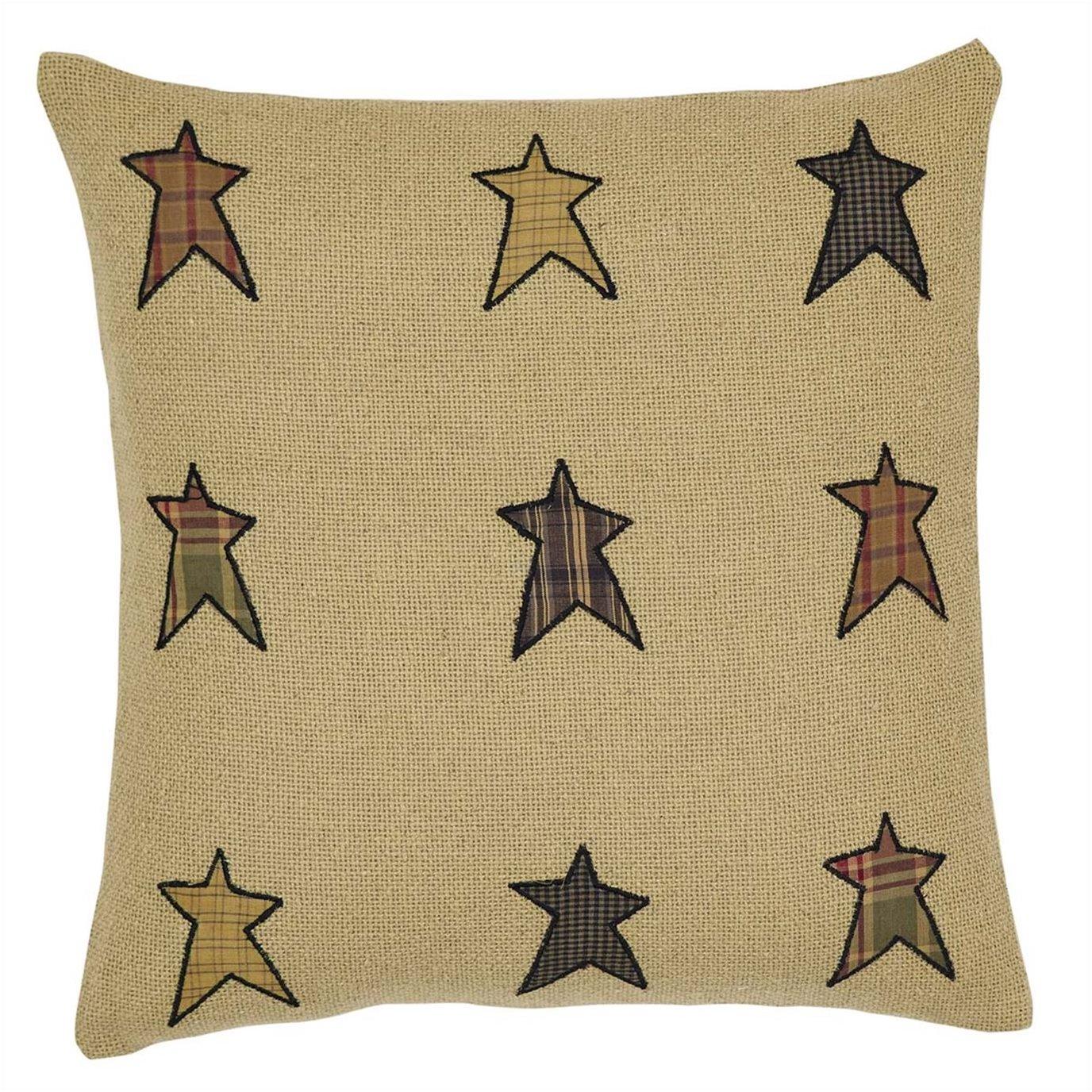 Stratton Applique Star Pillow 16x16