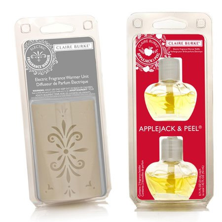 Claire Burke Applejack & Peel Fragrance Warmer Refill Pack Plus Warmer Unit Set