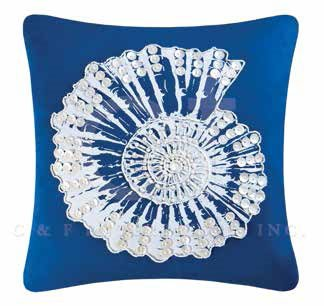 Fair Winds Embroidered Shell Pillow