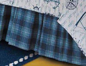 Fair Winds Plaid Queen Bedskirt