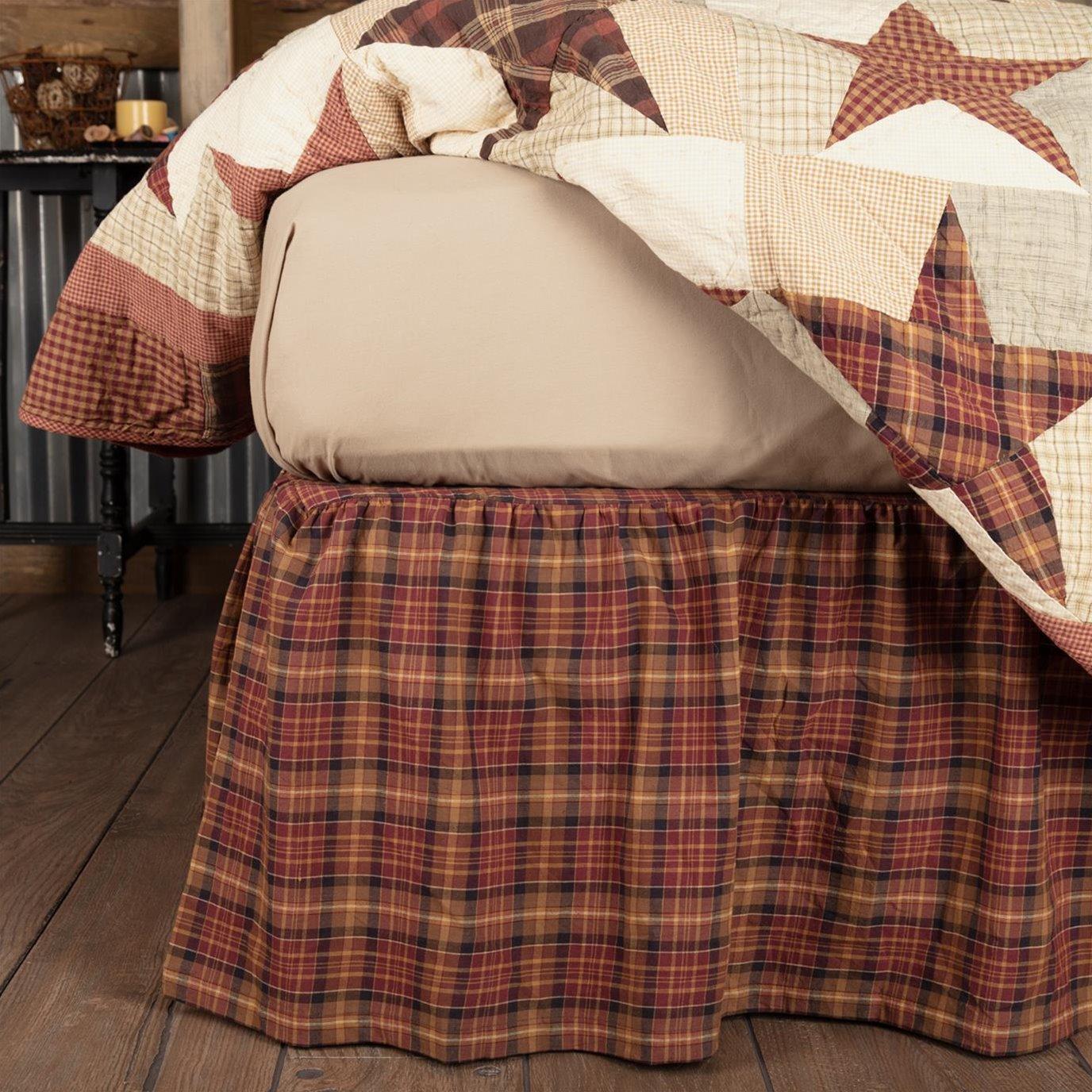 Abilene Star King Bed Skirt 78x80x16