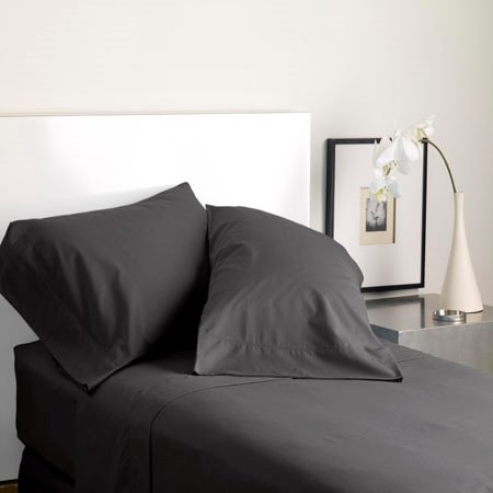Modern Living Solid Color T300 Standard Graphite Pillowcase Pair